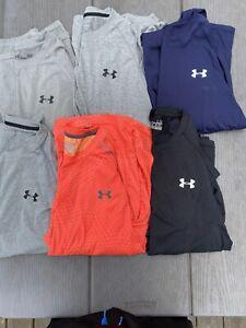 Lot Of 6 Under Armour Short Sleeve Shirts Size Large