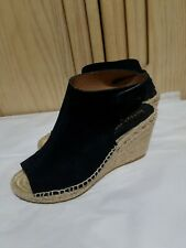 BETTUE MULLER Womens Navy Suede Espadrille Wedges Size 35