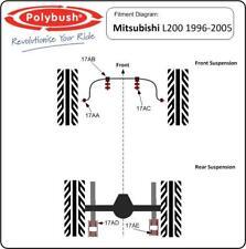 Polybush veicolo Bush Set Per Mitsubishi L200, 1996-2005: Kit81