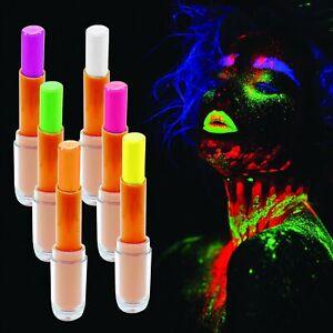 UV Blacklight Glow in the Dark Lipstick Fun Neon Party Lip Gloss