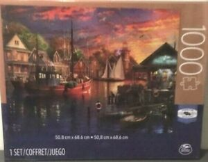 AMERICAN HARBOUR SUNSET 1000 Piece Spin Master Premier Jigsaw Puzzle  New Sealed