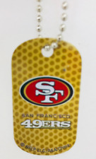San Francisco 49ers NFL Dog Tag Chain Personalized Engraved Custom Name On Back