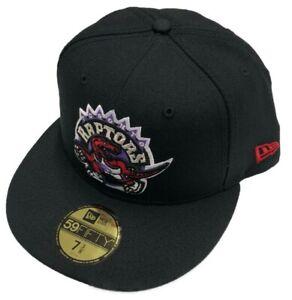 Men's New Era Black Toronto Raptors Hardwood Classic Night 59FIFTY Fitted Hat