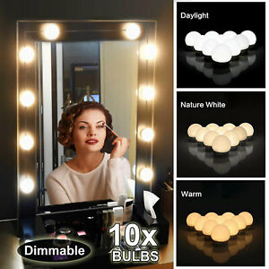 Hollywood Style 10 Bulbs Dimmable Lamp Vanity Light LED Make Up Mirror Lights