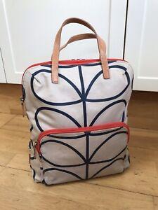Orla Kiely Linear Stem Print Laminated Backpack Rucksack