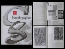 LE COURRIER GRAPHIQUE n°76 1952 RU VAN ROSSEM, TYPOGRAPHIE, BRAQUE, RAYNAL