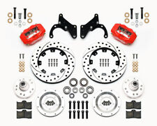 "Wilwood Dynalite Front & Rear Brake Kit ,its 1965-1968 Impala 12.19"" Rotors,Red"