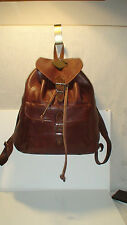 ROOTS  AUTH. PRE-PRODUCTION PEBBLED  LEATHER  BACK PACK RUK SAK