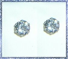 Sparkly Round Brilliant CZ Sterling Silver 6-Prong Studs- 7mm Rounds - 4.40 CTW