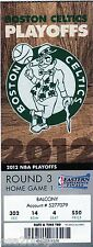 LEBRON JAMES WORLD CHAMPS FULL TICKET STUB 2012 MIAMI HEAT @ BOS CELTICS PLAYOFF