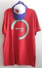 2017 eBay Logo Open Unisex Red Tee Shirt XL & Purple Baseball Golf Cap Brand New