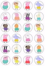 24 x Peppa Pig Edible WAFER PAPER Cupcake Toppers Kids Birthday UNCUT Image