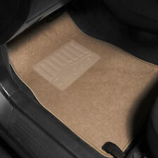 4pcs Carpet Floor Mats for Auto Car SUV Van Universal Fitment Beige