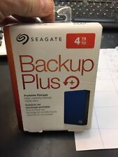 Seagate Backup Plus Slim 4TB External USB 3.0/2.0 Portable Hard Drive Blue