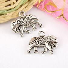 3Pcs Tibetan Silver Elephant Charms Pendants 17x21mm A3960