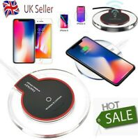Fast Qi Wireless Charger Charging Pad For Samsung Apple iPhone Xs Xr S8 S9 S10