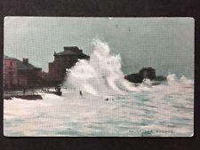 RP Vintage Postcard - Sussex #10 - Rough Sea Bognor - Nation Series