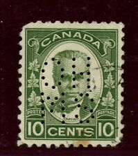 #OA190 Five Hole OHMS Cartier VF centering, small stain, Cat $100 Canada used