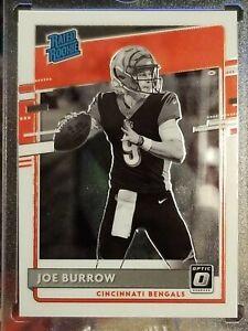 """🏈2020-21 Joe Burrow Optic Rated Rookie """"Negative"""" Variation #301 50/50👇Mint🏈"""