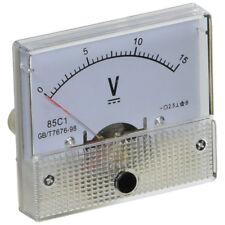 V6H5 85C1 Fine Tuning Dial Analog Volt Panel Meter Gauge DC 0-15V BT