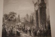 ENTREE DE CHARLES X A PARIS 1824 GRAVURE VERSAILLES R1721