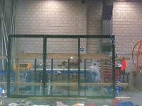 BLACK 2100HX2700W ALUMINIUM SLIDING DOOR WITH 6.3 CLEAR LAMINATED GLASS