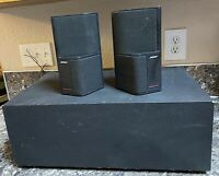 Bose Acoustimass SE-5 Speaker System Pair With Subwoofer Tested Working Used