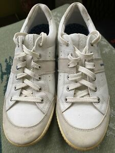 Men's 45 ECCO Street Hybrid Golf Shoes 11.5 M White Leather Suede