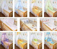 Baby Bettset 5-20tlg Himmel Vollstoff Bettwäsche Nestchen Decke  Wickelauflage