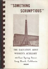 LONG BEACH CA VINTAGE SALVATION ARMY AUXILIARY COOK BOOK * SOMETHING SCRUMPTIOUS