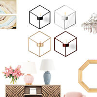 3D Geometric Candlestick Metal Wall Candle Holder Sconce Home Decor Nordic Style