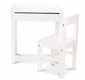 Melissa & Doug Lift-Top Kids Writing Desk with Chair Multiple Finishes