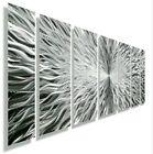 Large Silver Metal Wall Art Etched Sculpture Modern Abstract Original Jon Allen