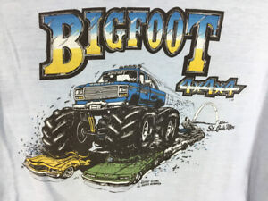 Vtg 80's Bigfoot Monster Truck 4x4 Double Sided St Louis T Shirt Size Large