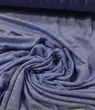 "100% Linen Jersey Knit Fabric By Yard  Semi Sheer highend fabric 58"" PERIBLUE"