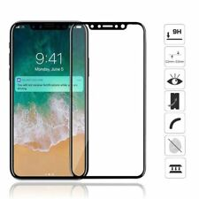 Genuine Tempered Glass  Screen Protector 3D Full Cover Edge for Apple Iphone x10