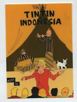 Carte Postale PASTICHE Tintin. TINTIN INDONESIA. Boite aux images n°5