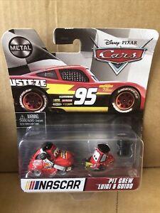 DISNEY CARS DIECAST NASCAR - Pit Crew Luigi & Guido - Please See Description