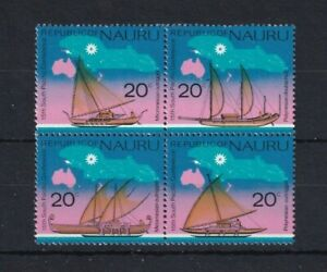 NAURU 1975 Ships South Pacific Commission Conference Block 4 MNH
