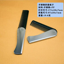 1 Pcs Mens Womens Beauty Handmade Folding Pocket Clip Hair Moustache Beard Comb