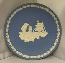 Wedgwood White over Blue Jasper Apollo 11 1969 Moon Landing Commemorative Plate