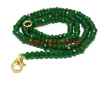 3-4MM Dyed Green Jade Faceted Beads Beaded Necklace Strand Women Rich Jewelry