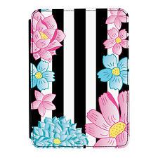 Flores Rayas Floral Margarita Kindle Paperwhite Toque PU Funda Libro de Piel