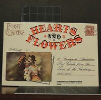 1974 Hearts & Flowers Vintage 1890-1915 Retro Post Card Book Love Romance intact