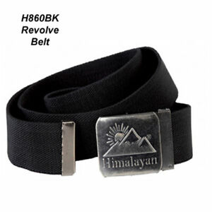 Himalayan H860 Revolve Buckle Belt with Jaw Closure ~Black~