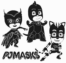 3D Animated Cartoon Pj Masks Characters Vinyl Wall Decal - Home Art Decor 19x20