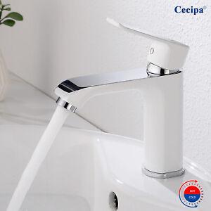 Waschtischarmatur Wasserhahn Bad Waschbecken Einhandmischer Mischbatterie Weiß