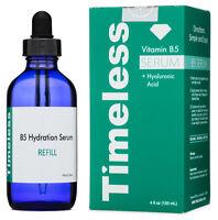 VITAMIN B5 SERUM with HYALURONIC ACID + 5% HA 4 OZ Refill Timeless Skin Care