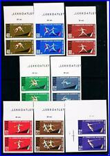 POLAND 1962 ATHLETIC CHAMPIONSHIP imperf. in PAIRS SC#1079-86 MNH SPORTS