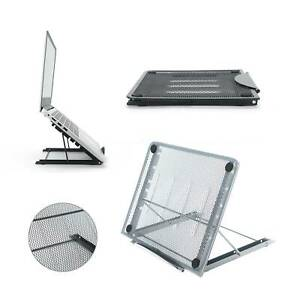 Adjustable Laptop Stand Folding Portable Mesh Tablet Holder Tray Office Support